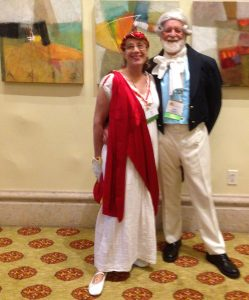JASNASWF members Jerry and Nili at the 2017 AGM dressed in Regency attire.